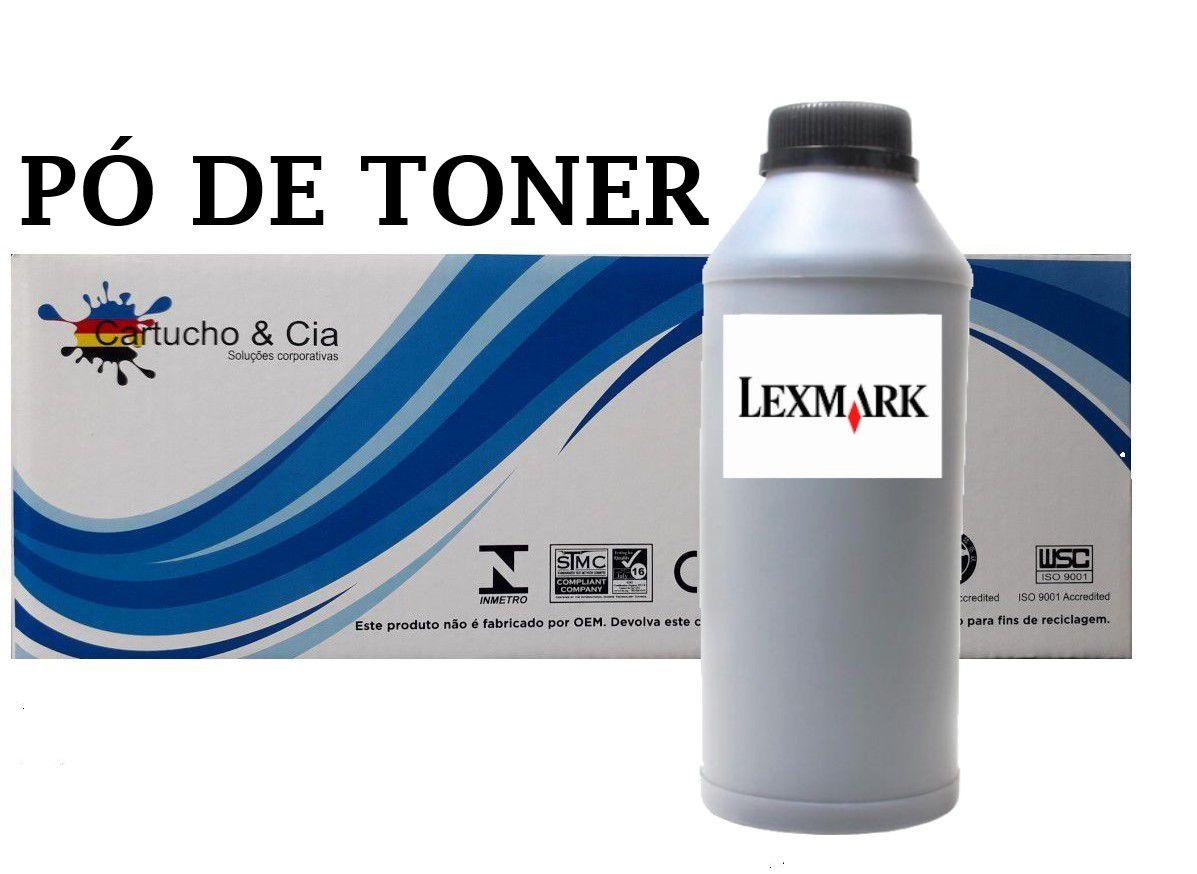 Kit 2 Unidades Pó De Toner Para Lexmark Ms / Mx Séries 2 Kg - Cartucho & Cia