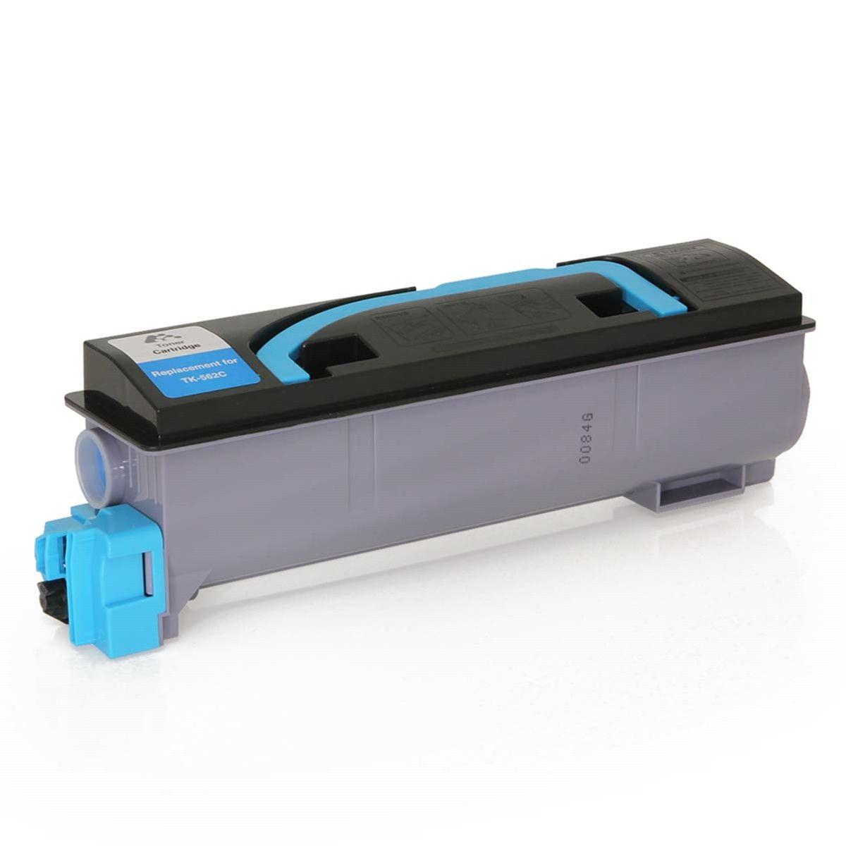 Toner compatível com KYOCERA TK-562C FS C5300 FS C5300DN FS C5350 C5350DN Ciano 10.000 Páginas - Cartucho & Cia