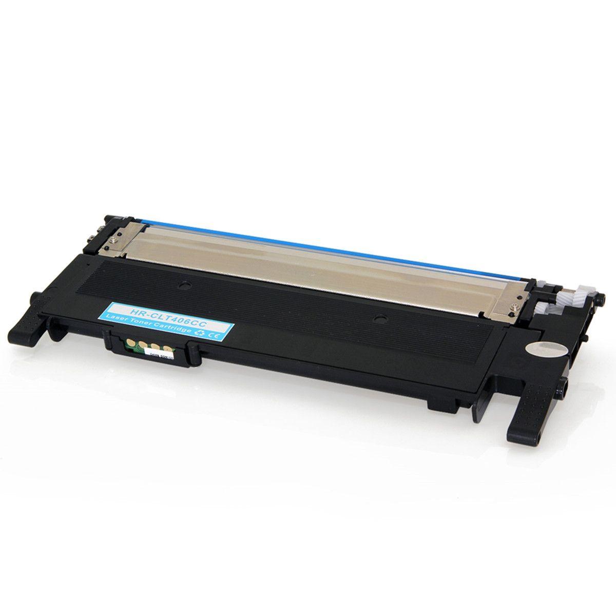 Toner compatível com SAMSUNG CLT-C406S Ciano 1.000 Páginas - Cartucho & Cia