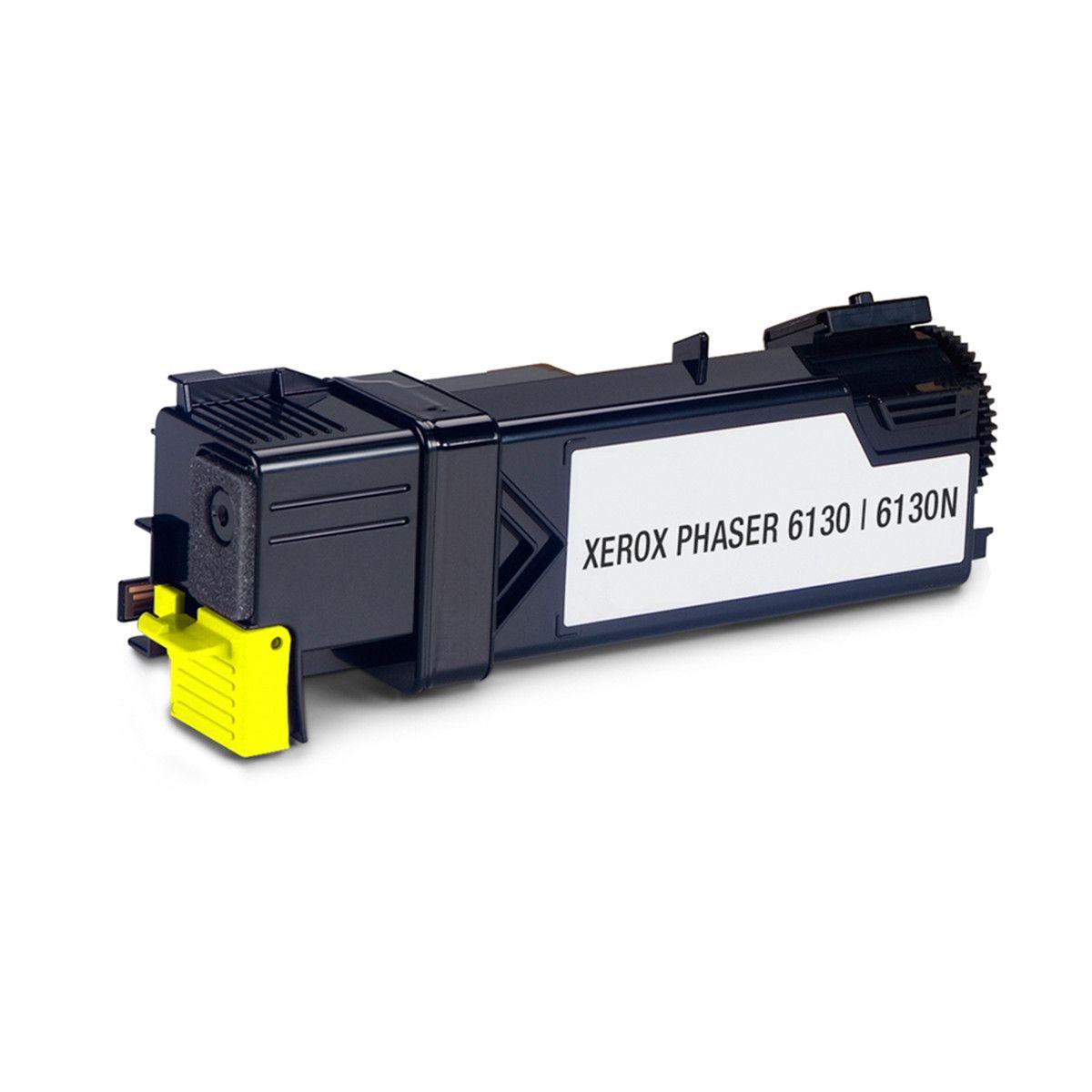 Toner compatível com XEROX 106R01280 PHASER 6130 6130N Yellow 1.600 Páginas - Cartucho & Cia