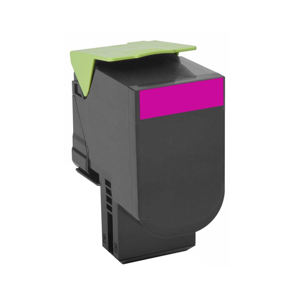 Toner compatível com Lexmark [80C8SM0] CX310 CX410 CX510 Magenta 2.500 Páginas - Cartucho & Cia