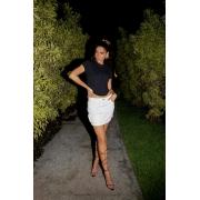 Mini saia com bolso 3D