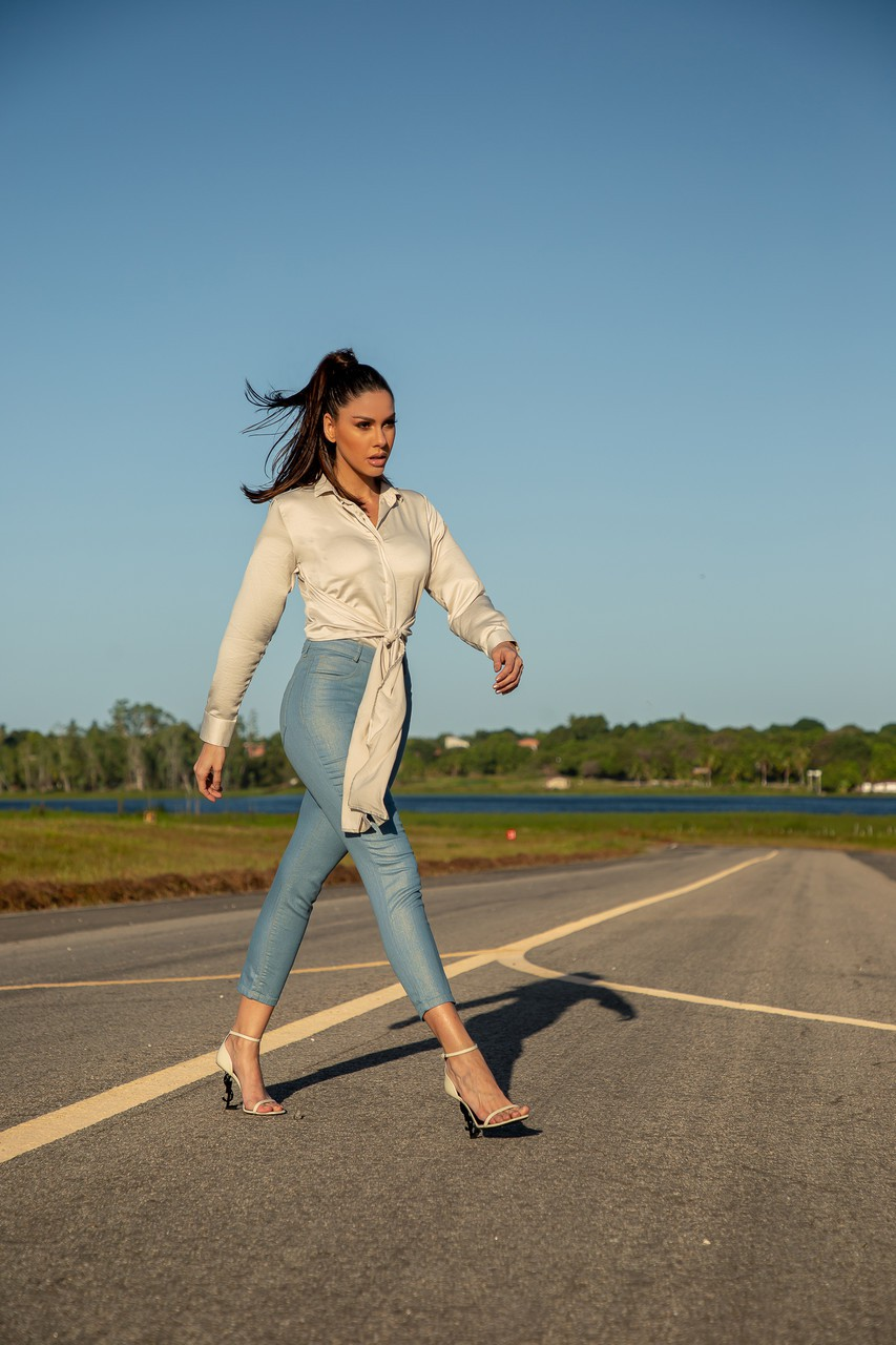 Calça jeans skinny  foil