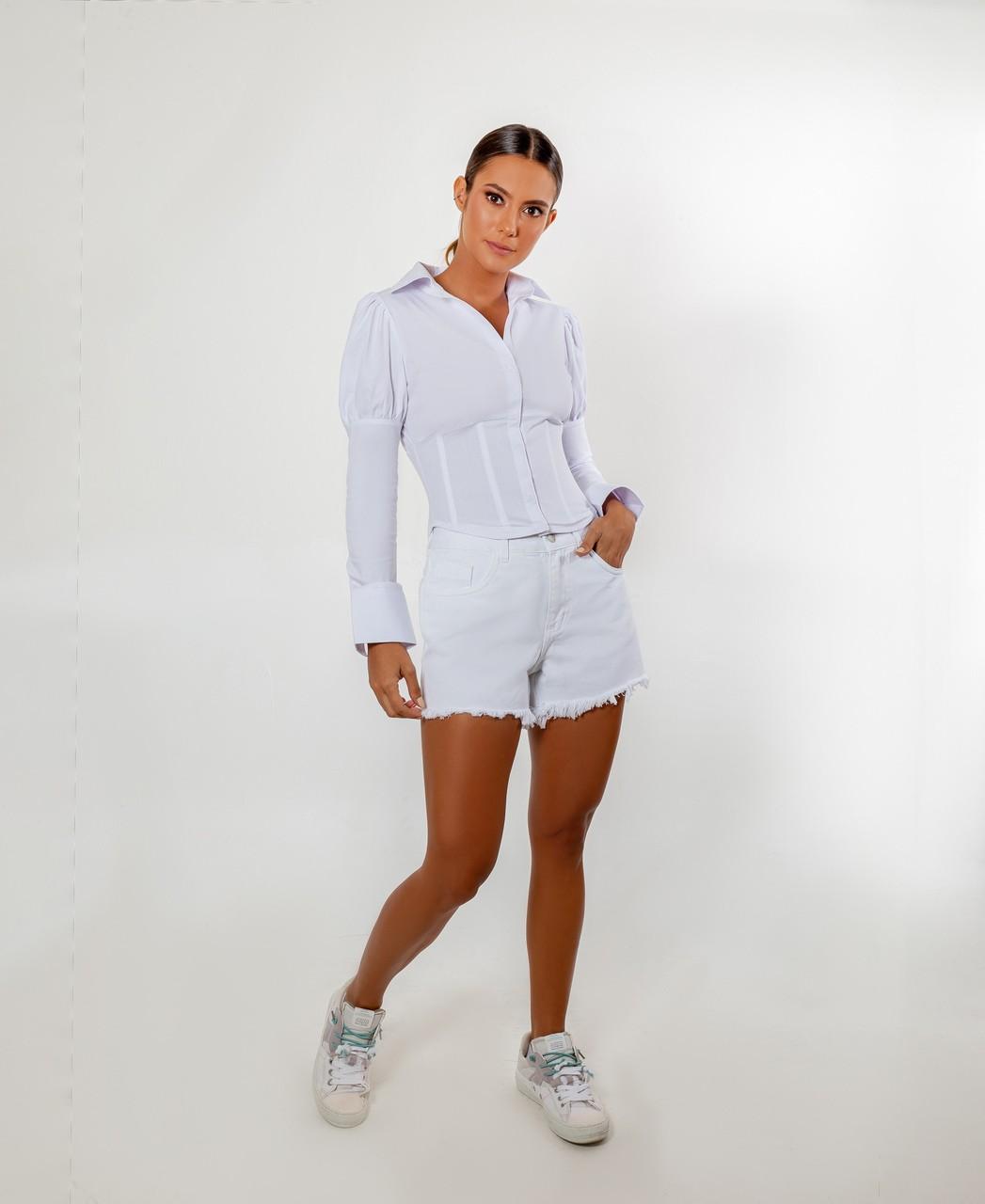 Camisa tricoline corset