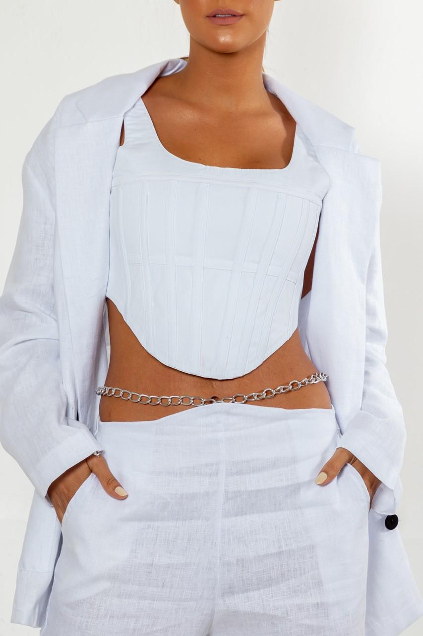 Corset branco estruturado