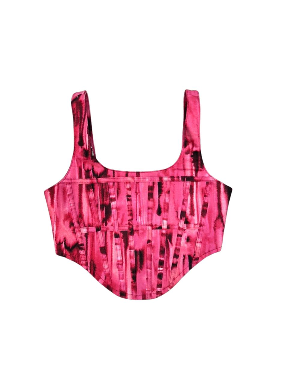 Corset estruturado - pink artsy
