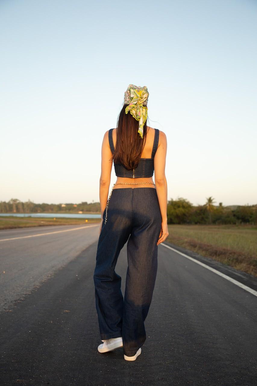 Corset jeans estruturado