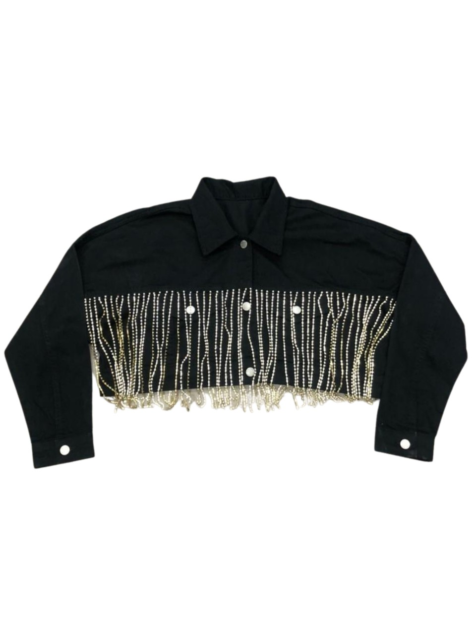 JAQUETA CROPPED STRASS MLZ FOR EITH