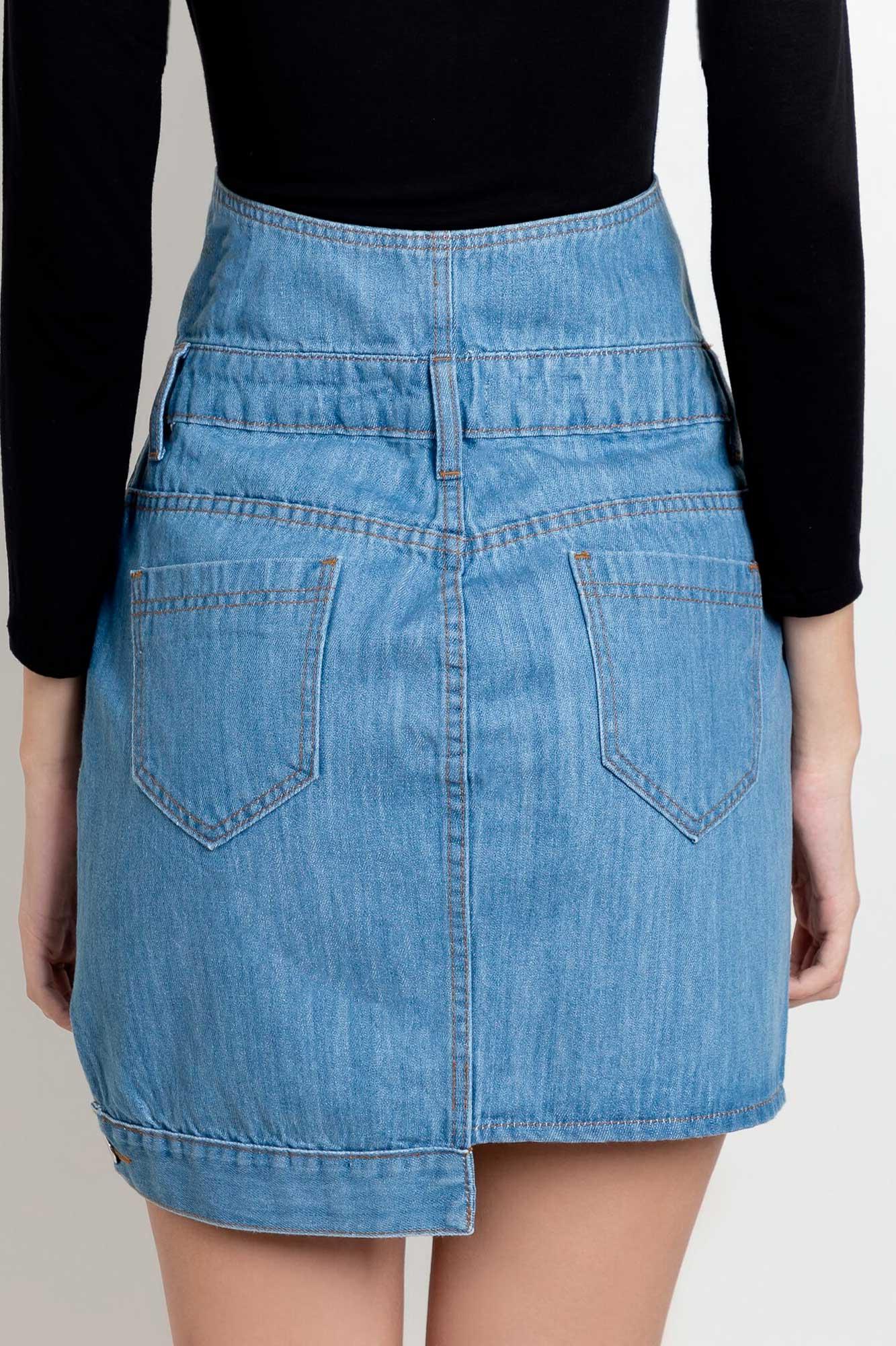 Saia jeans corset