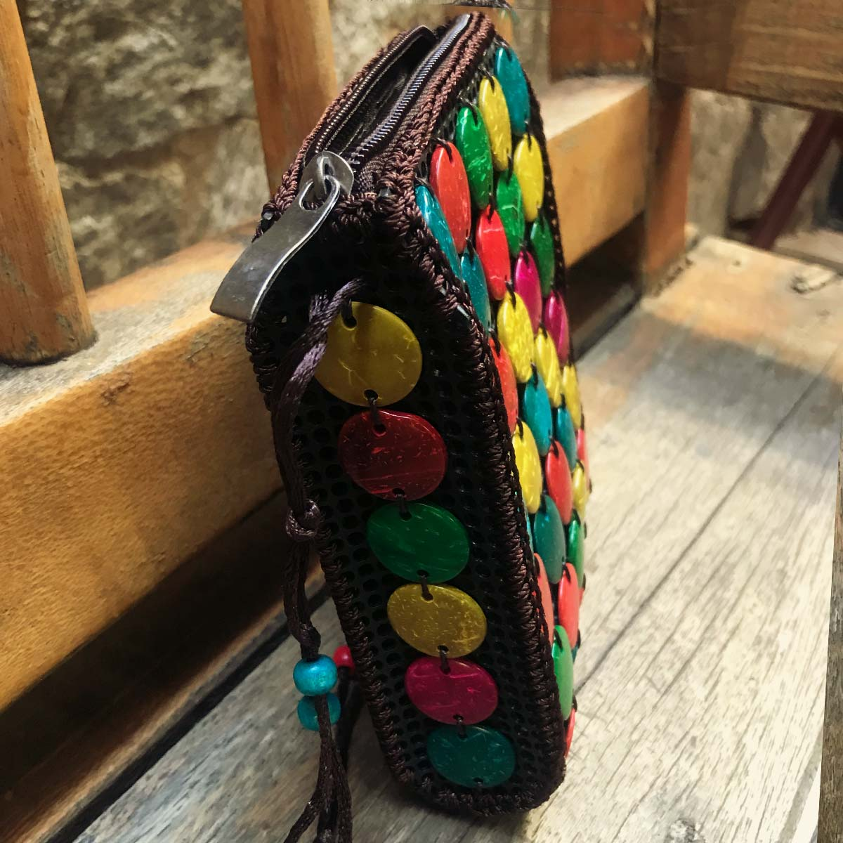 BOLSA BOHO POKET PERUANA COLORIDA