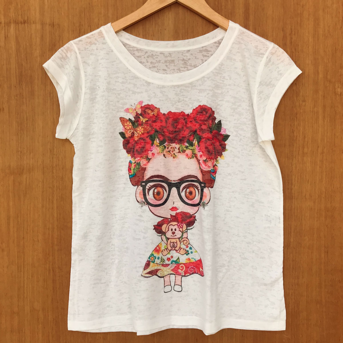 T-SHIRT CAMISETA BABY LOOK FRIDA KAHLO