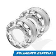 "Kit rodas de alumínio Italspeed GT1 aro 22,5"" x 8,25"" (10 furos) com POLIMENTO ESPECIAL"