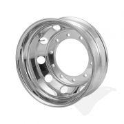 """Roda de alumínio Roadline aro 22,5"""" x 8,25"""" (10 furos) polimento interno"""