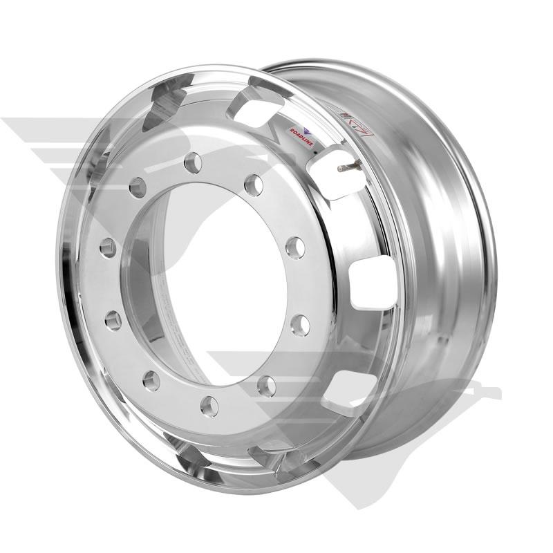 """Kit 04 unidades - Roda de alumínio Roadline RDS aro 22,5"""" x 8,25"""" 10 furos"""