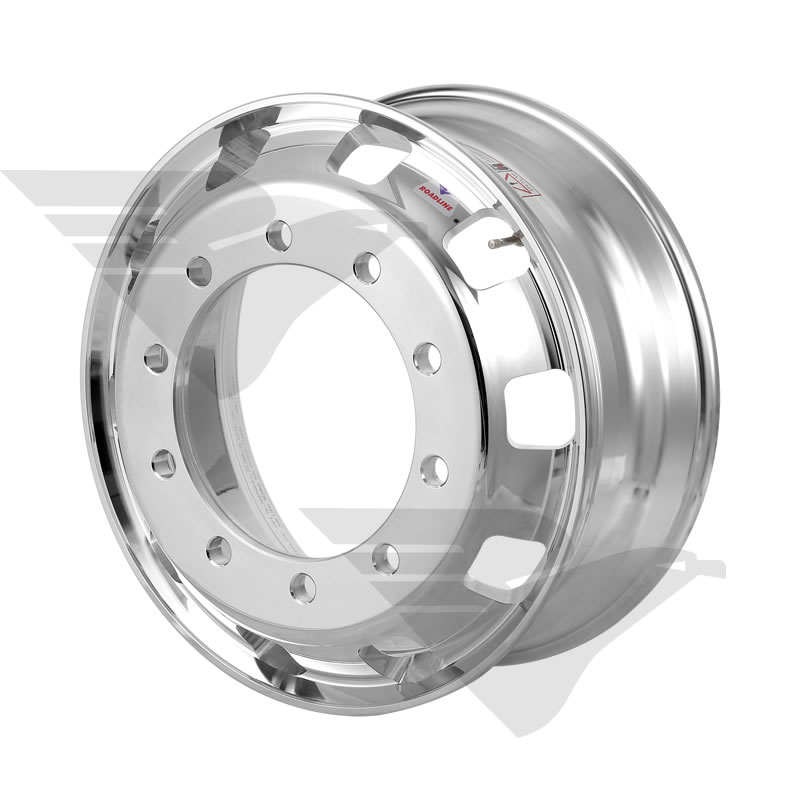 "Kit com 02 unidades - Roda de alumínio Roadline RDS aro 22,5"" x 8,25"" 10 furos"