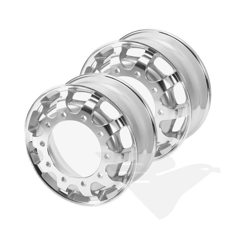 "Kit rodas de alumínio Italspeed GT1 aro 22,5"" x 8,25"" (10 furos)"