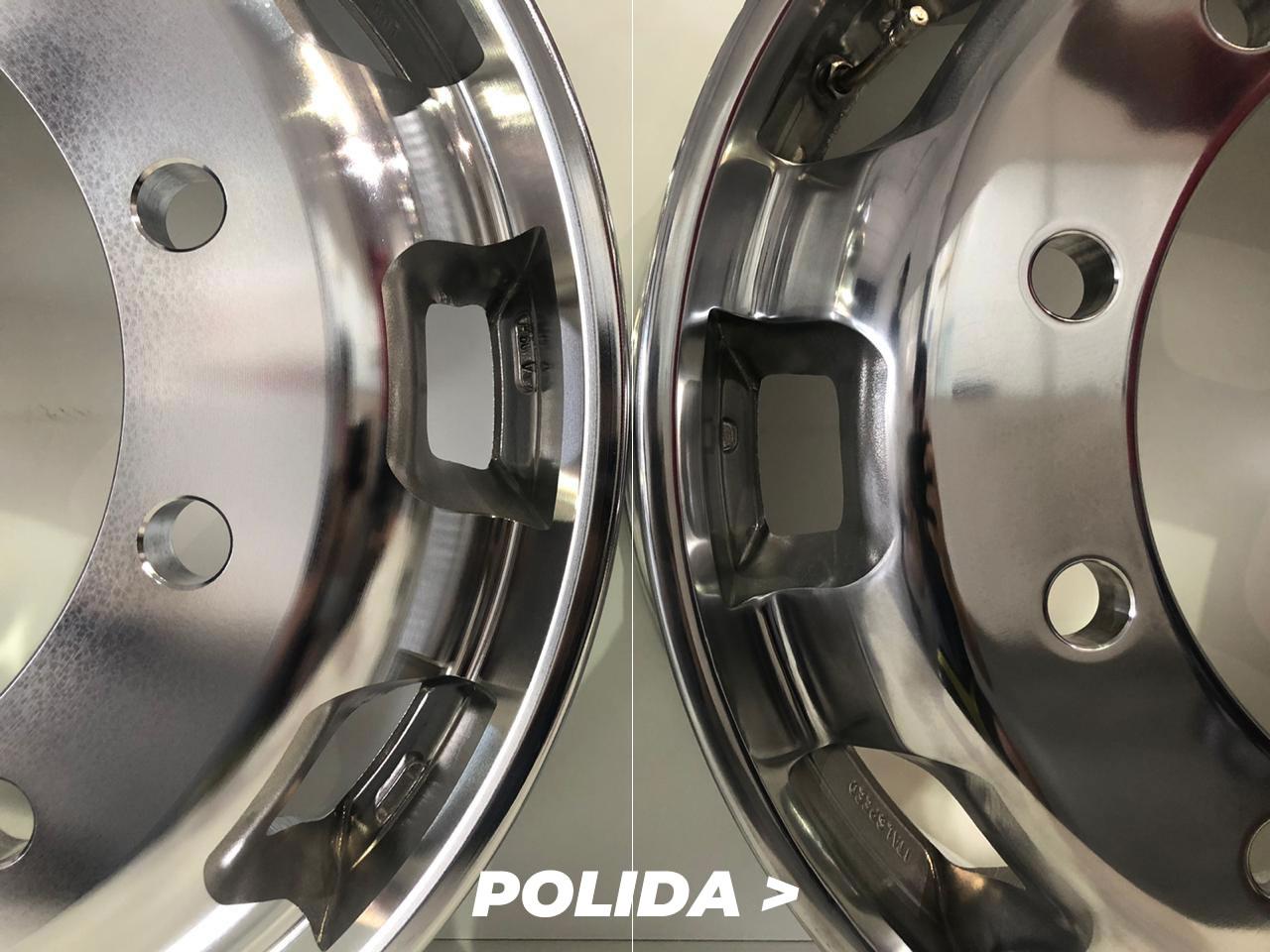 """Kit rodas de alumínio Italspeed Speedline aro 22,5"""" x 8,25"""" (10 furos) com POLIMENTO EXTERNO ESPECIAL"""
