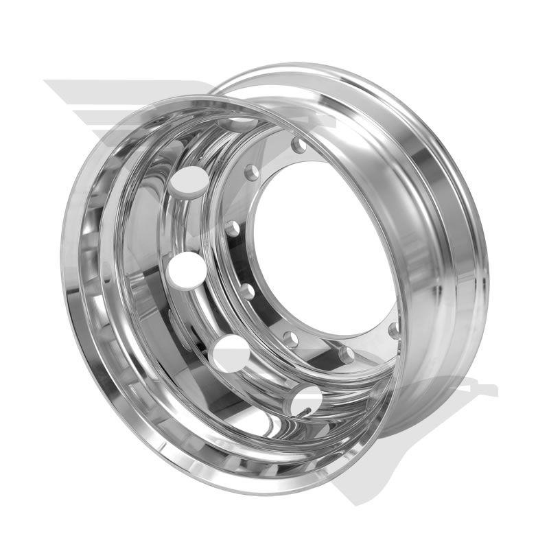 "Kit rodas Roadline aro 22,5"" borda larga (polimento interno)"