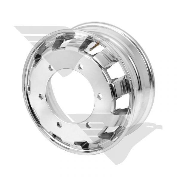 Roda de alumínio aro 17,5 X 6,00 (6 furos) Accelo 715/815/915/1016 e VW 9160/11180 – Modelo tradicional