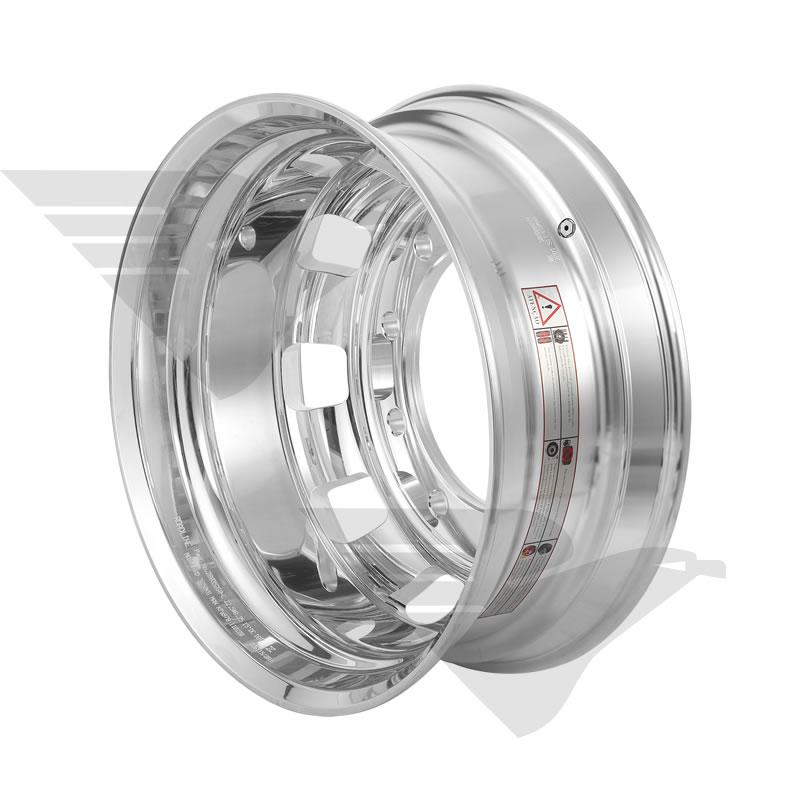 """Roda de alumínio Roadline RDS aro 22,5"""" x 8,25"""" 10 furos"""