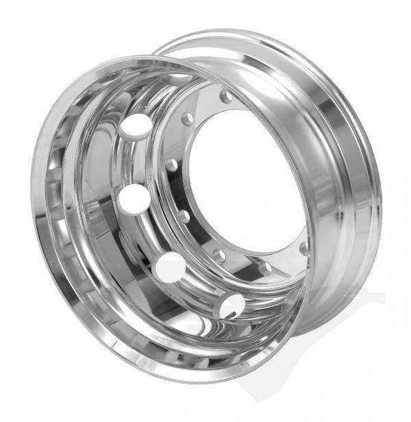 Roda de alumínio Roadline aro 22,5 x 8,25 Polim. interno BORDA LARGA
