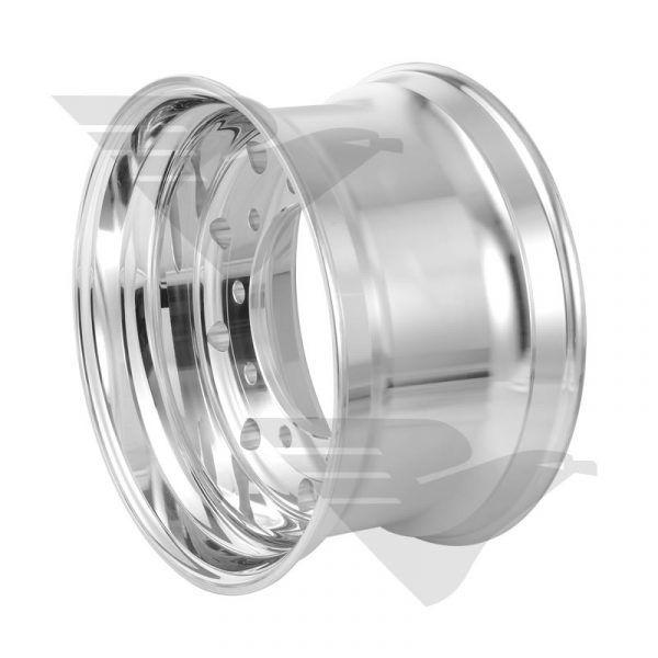 """Roda de alumínio Roadline Single aro 22,5"""" x 11,75"""" (10 furos)"""