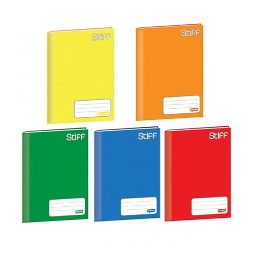 Caderno De Brochura Capa Dura Vermelho