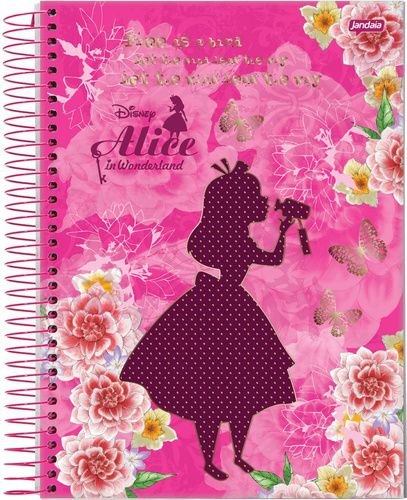 Caderno Universitário Espiral 96fls Alice