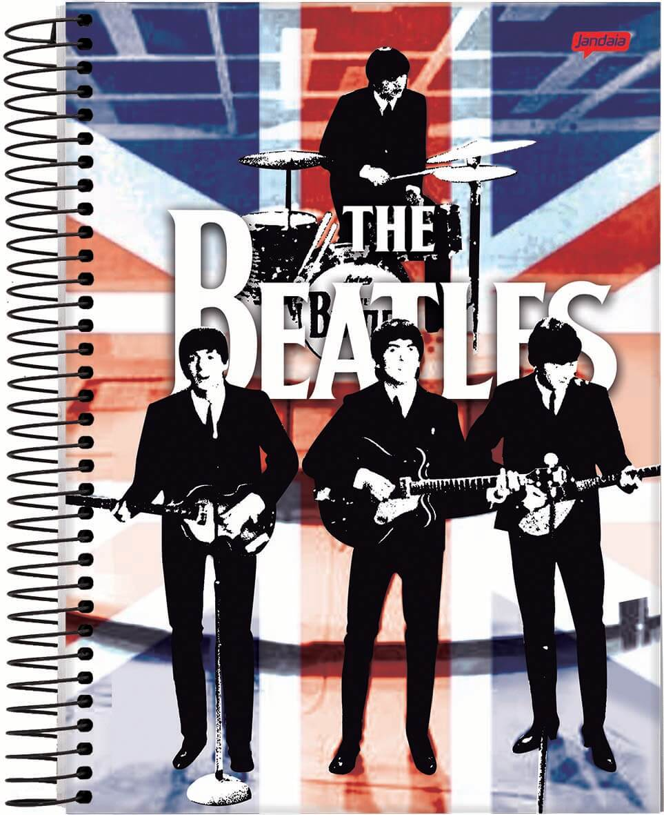Caderno Universitário Espiral 96fls Beatles