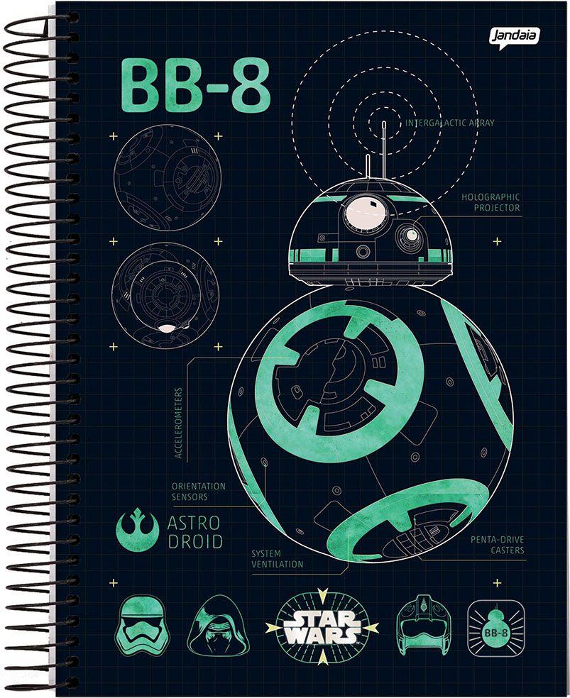Caderno Universitário Espiral 96fls StarWars