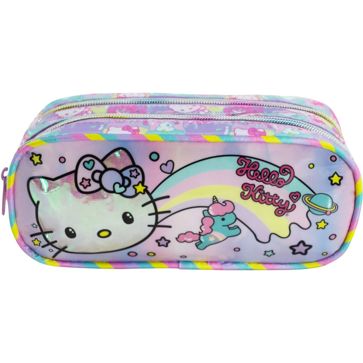 Estojo Pvc Hello Kitty Rainbow - Xeryus