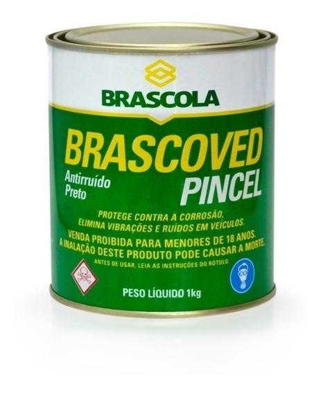 Brascoved Pincel Anti Ruido Preto 1K Brascola