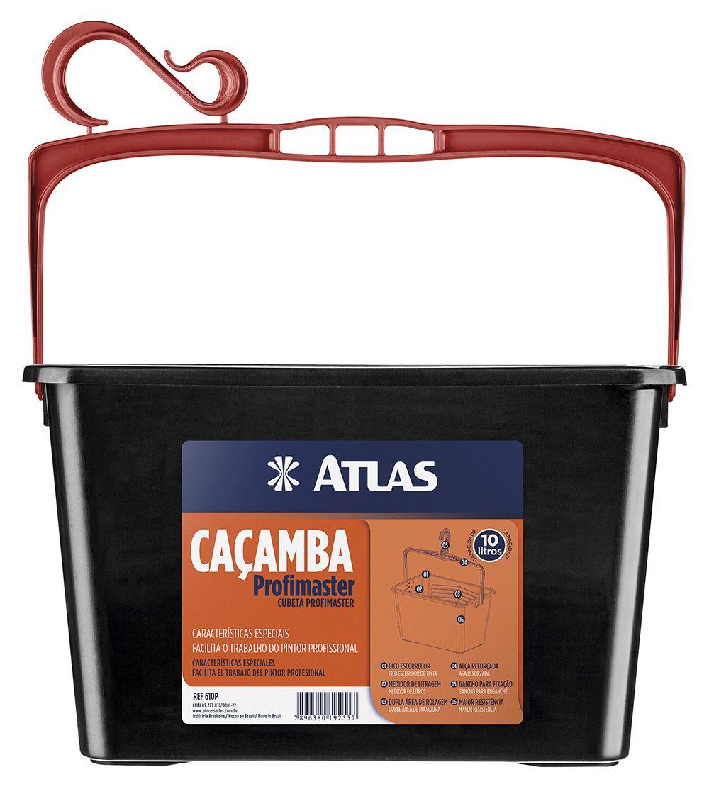 Caçamba Pintura 10Lt 610P Preta Atlas