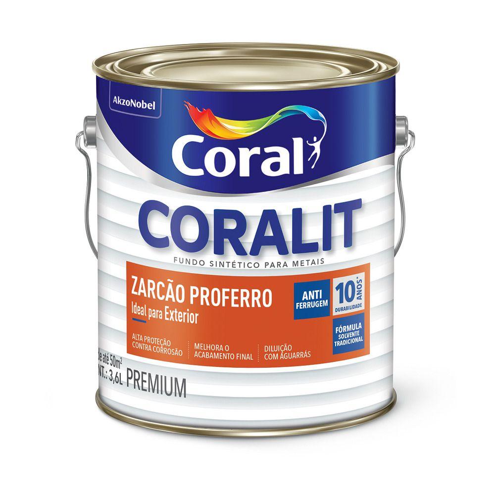 Coralit Fundo Zarcao Antioxido 3,6L