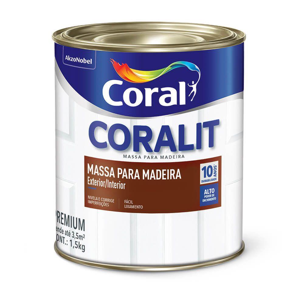 Coralit Massa Para  Madeira 1,5Kg