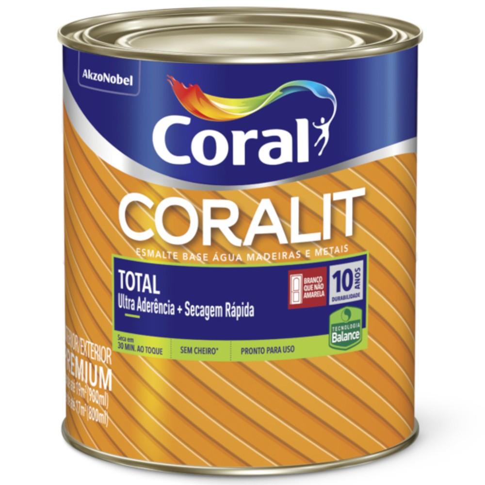 Coralit Secagem Rápida Acetinado Branco 0,9L