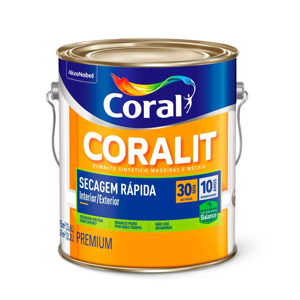 Coralit Secagem Rápida Balance Acetinado Branco 3,6L