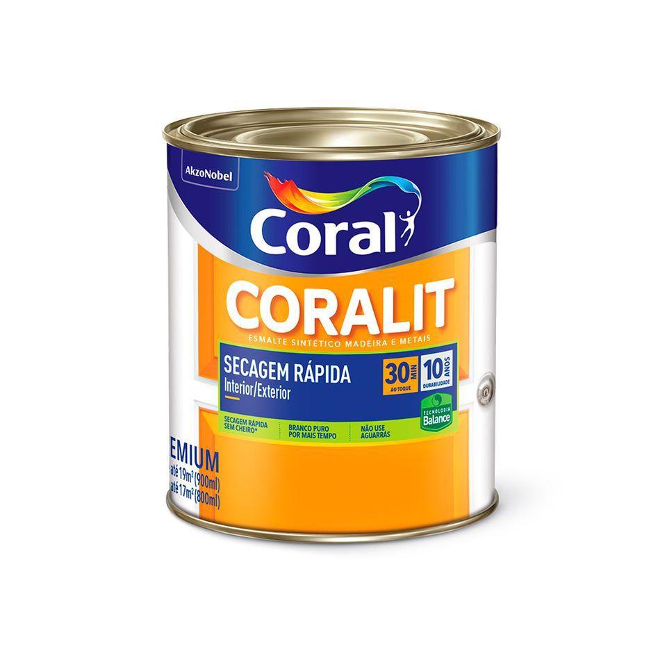 Coralit Secagem Rápida Balance Brilhante Branco 0,9L