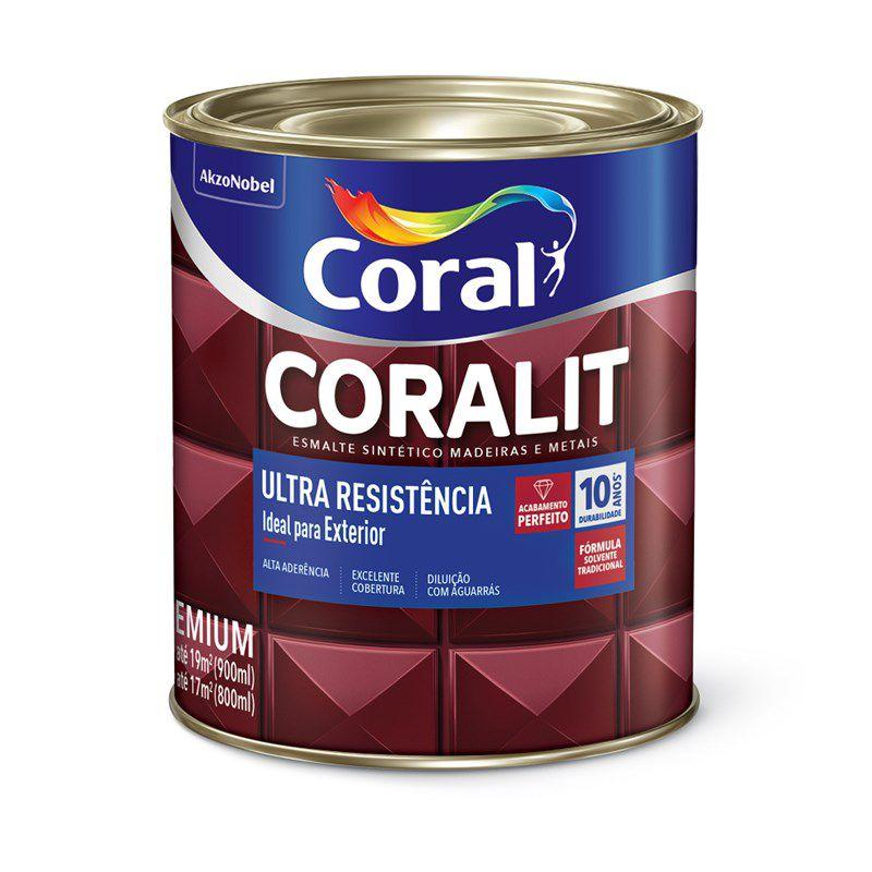 Coralit Ultra Alto Brilho Cinza Escuro 0,9L