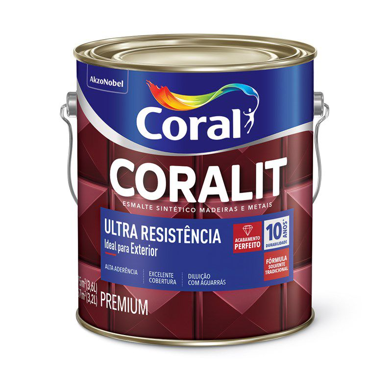 Coralit Ultra Alto Brilho Laranja 3,6L
