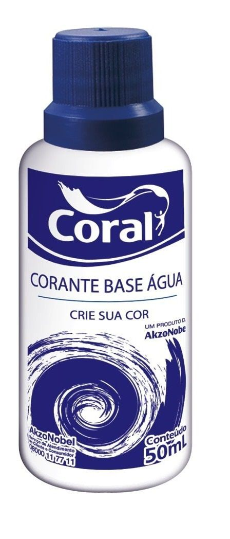 Corante Coral 50Ml Azul