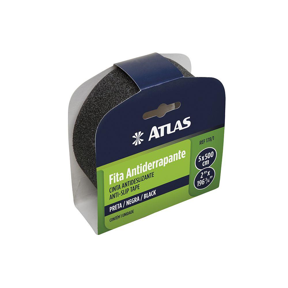 Fita Antiderrapante 178/1 Preta Atlas