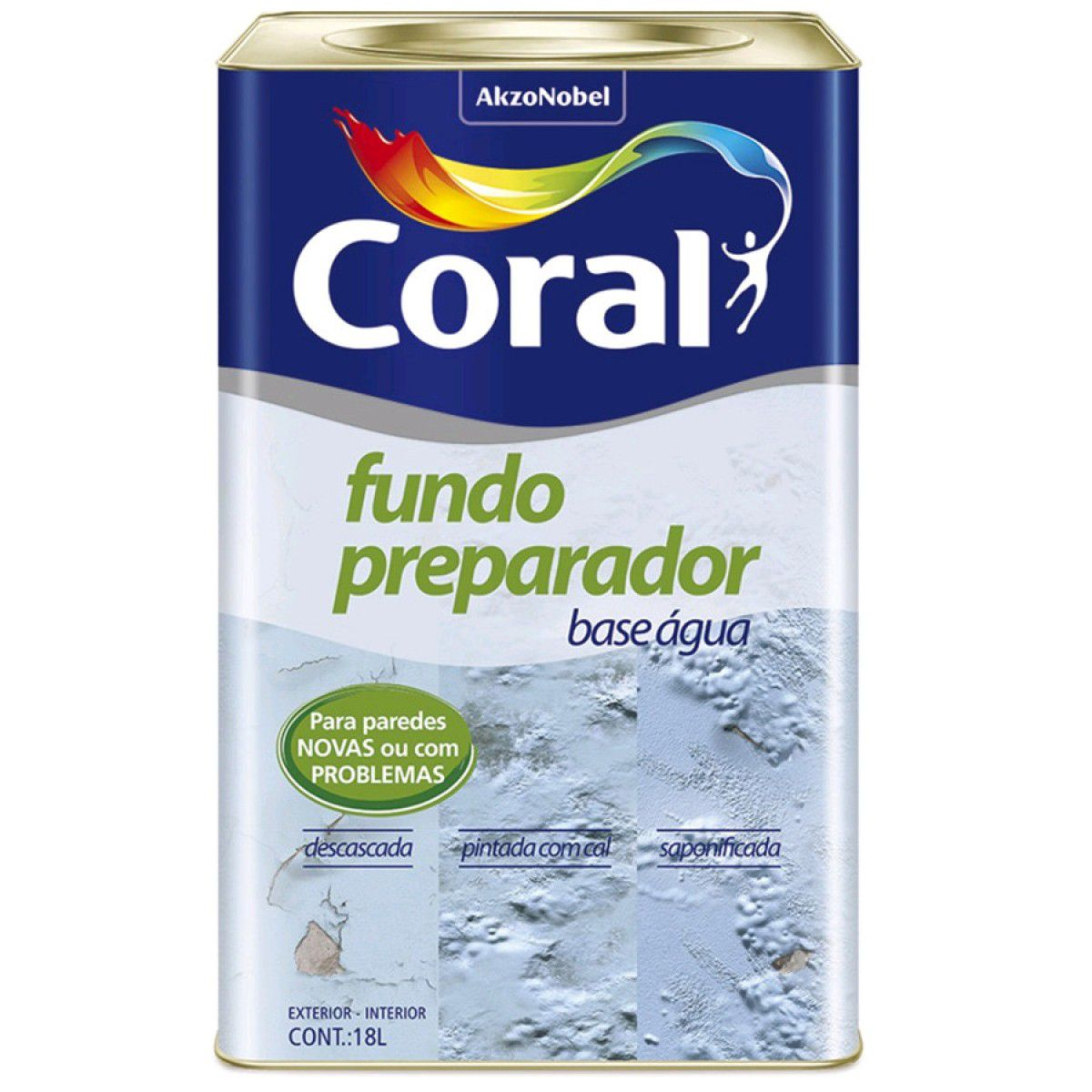 Fundo Preparador Parede Base Agua 18L Coral