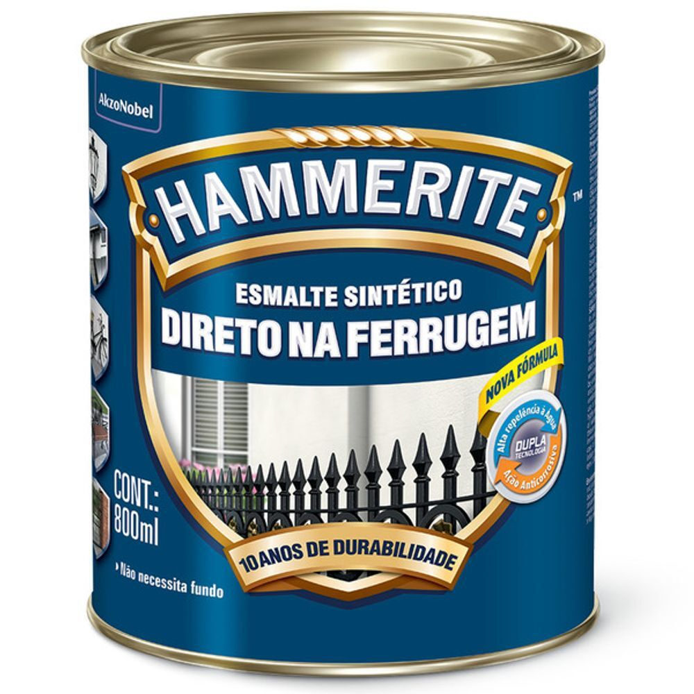 Hammerite Brilhante 0,8L Preto