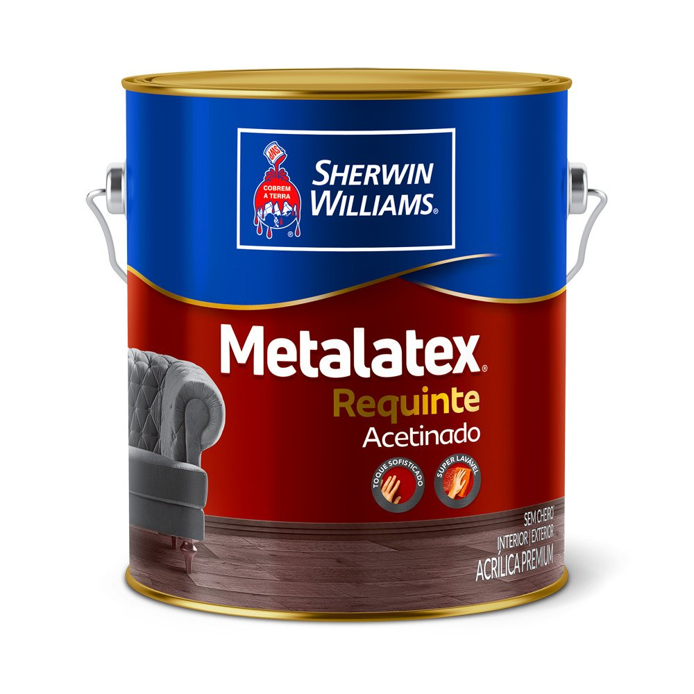 Metalatex Requinte Acetinado 3,6L CORES