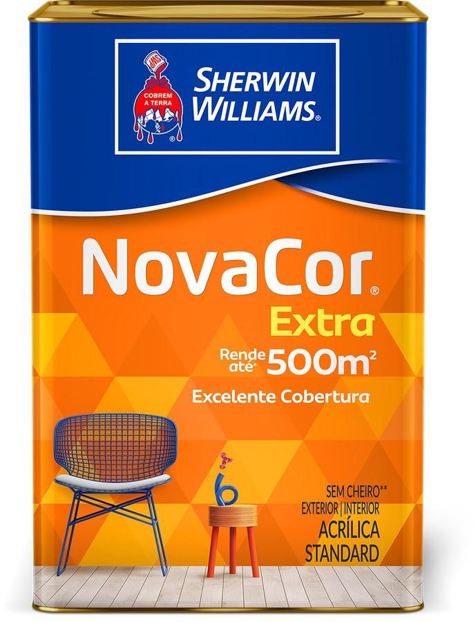 Novacor Extra Mais Rendimento Acrílico Fosco Branco 18L