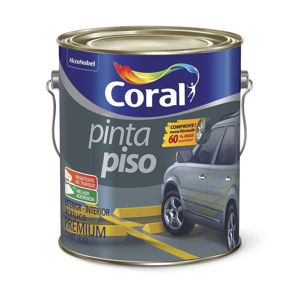Pinta Piso 3,6L Cinza Medio