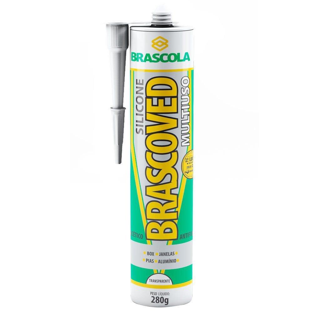 Silicone Multiuso Brascoved Transparente 280g -  Brascola