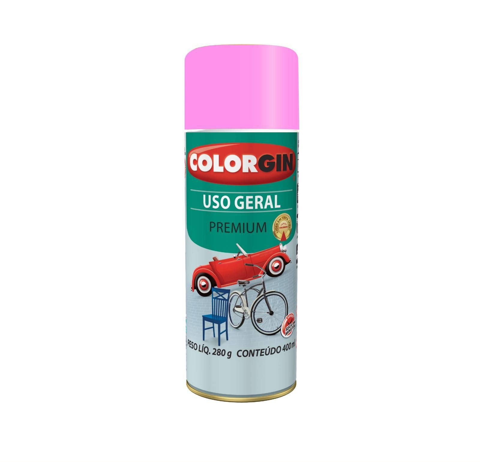 Spray 5606 Uso Geral Rosa Gbr Colorgin