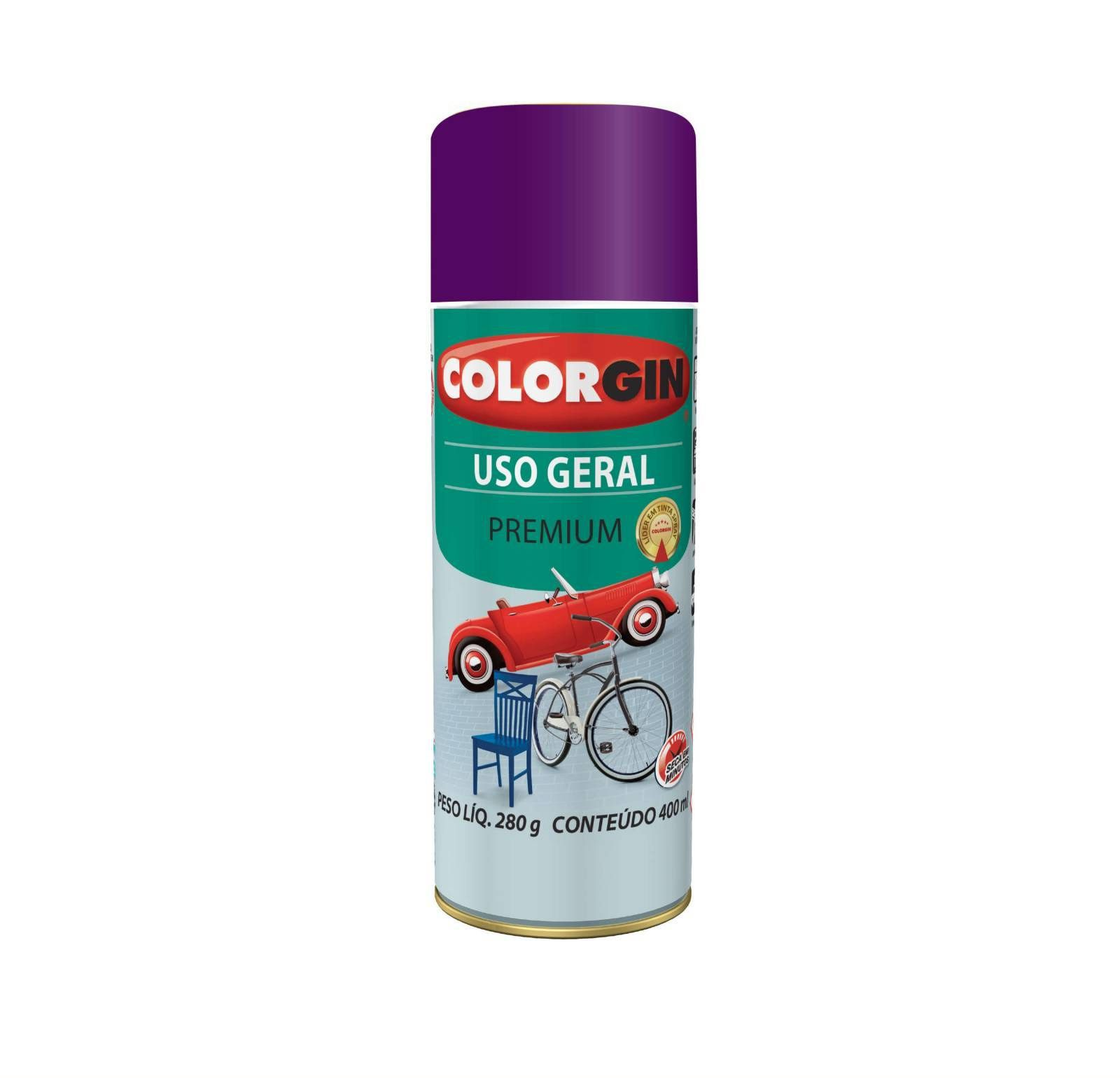 Spray 57021 Uso Geral Violeta Imperial Colorgin
